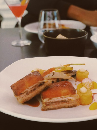 VOGUE CAFE PORTO PORTUGAL PORK BELLY - FLIGHTS AND FEELINGS #FLIGHTSANDFEELINGS - ABI & LULU TRAVEL
